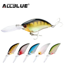 China ALLBLUE Floating Deep Diving Crankbait Fishing Lures 17.8g 70mm Lifelike Wobblers With 6# Owner Hooks peche isca artificial cheap owner lures suppliers