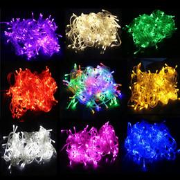 20m 200leds multicolor led string light 110v 220v eu us plug 8 display modes outdoor waterproof led decoration light - Christmas Lights Online