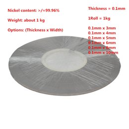 $enCountryForm.capitalKeyWord Canada - Thickness 0.1mm Weight 1kg roll Pure Nickel Plate Strap Strip Sheets 99.96% for 18650 Battery Spot Welding
