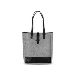 tote bags compartments UK - felt handbag fashion women shoulder bag handbag large bag Shopping bag drop shipping can customize logo