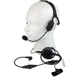 TacTical headseTs pTT online shopping - Finger PTT MIC Military Bone Conduction Tactical Headset for Motorola GP88 PRO5150 CLS1110 Radio Walkie Talkie C2225A