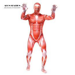 $enCountryForm.capitalKeyWord Canada - Wholesale-Ainclu 2016 Red Monster Lycra Spandex Zentai with White Muscular Vein Muscle Strong Look Halloween Christmas Jumpsuit Romper