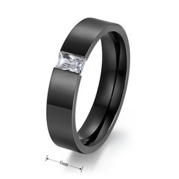 $enCountryForm.capitalKeyWord Canada - Tension Setting Square Zircon Rings for Men Women Gold Black Color Titanium Steel Ring for Parties