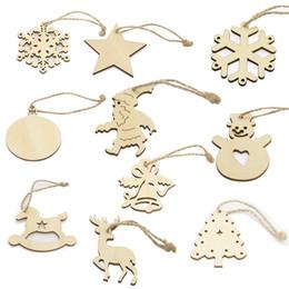 $enCountryForm.capitalKeyWord Canada - Christmas Decor Laser Cut Wooden Snowflake Cutouts Bell Deerlet Snowman Craft Embellishment Christmas Tree Hanging Ornaments DIY Handmade