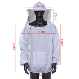 $enCountryForm.capitalKeyWord Australia - Polyester Cotton White Blue Protective Beekeeping Jacket Veil Dress With Hat Equip Suit Smock - Bee Coat Suit Clothes