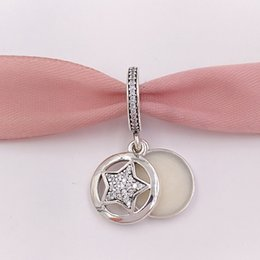 Charms star sterling online shopping - Authentic Sterling Silver Beads Friendship Star Pendant Charm Charms Fits European Pandora Style Jewelry Bracelets Necklace EN23