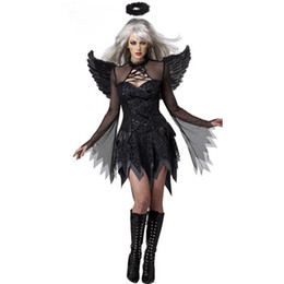 $enCountryForm.capitalKeyWord Canada - Women High Quality Halloween Costumes Devils Character Cosplay Costume Party Black Clothes Halloween Party Club Fashion Theme Clothes