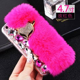 online shopping Limited For iphone Case handset shell is luxuriously encrusted with a hand made beaver rabbit wool shell full of water drilling shell