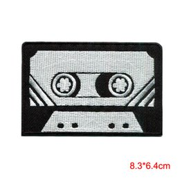 $enCountryForm.capitalKeyWord NZ - Cassette tape retro seventies music embroidered applique iron-on patch Stickers Appliques patch for Jacket Jeans Clothing Badge