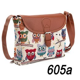 fcae8026ff0a High quality + owl cotton jacquard ladies oblique cross package + family  wind embroidery line female shoulder bag (four styles of ch