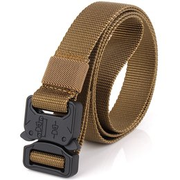 $enCountryForm.capitalKeyWord Australia - Wholesale High Quality Cheap Thin New Style Hard Tactical Belt Army Fan Style Outdoor Sports Leisure Nylon Traning Belt