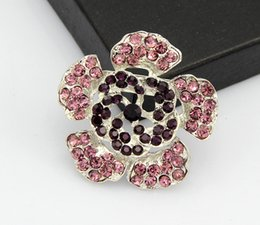 $enCountryForm.capitalKeyWord NZ - Cheapest High Quality Platinum vintage brooch RED Plated Flower White Simulated Pearl Brooch Bouquet for Wedding B058