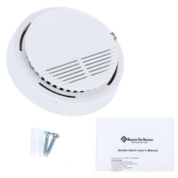 Security System Sensors Canada - New High Sensitivity Stable Photoelectric Smoke Alarm Fire Smoke Detector Sensor Security System Wireless Smoke Detector Sensor for Home