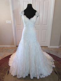 Dress Cor Australia - Delicate lace Cap Sleeve Sweetheart Bridal Gown Wedding Dress Custom Made Fit and Flare Vestido De Noiva Robe De Mariage COR-1095