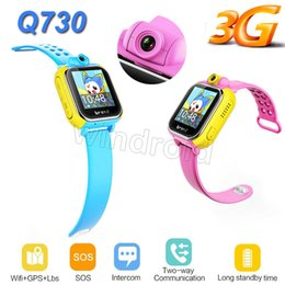 gprs gps camera UK - Smart watch Kids Wristwatch Q730 G75 3G GPRS GPS Locator Tracker Smartwatch Baby Watch With nano card Camera For IOS Android PK Q50 Q90