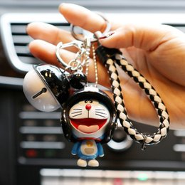 keychain cat black NZ - new product Originality Small bell Lovely men and women Keychain Exquisite pendant car key chain Lovers Key Chain Jingle cat Keychain
