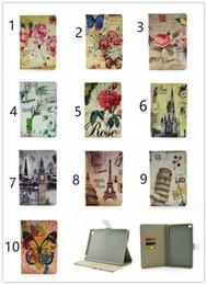 Lavender Bundles Canada - PU Leather Cover Case Flip Stand Protector Retro Style for iPad PRO iPad 6 iPad 234 iPad mini