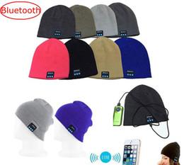 $enCountryForm.capitalKeyWord NZ - Woman Man Bluetooth Music Hats Soft Warm Beanie Caps with Stereo Headphone Headset Speaker Wireless Microphone Best Chrismas Gift 10colors