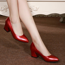 Spring Mouth NZ - The new spring and summer shoes with thick Korean woman single pointed shoes shallow mouth wedding