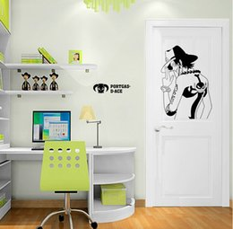 Cartoon Nature Australia - One Piece Portgas D Ace cartoon wall sticker kindergarten for boy Kids Rooms home decor wall decal bedroom wallpaper 50*70 cm