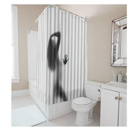 Customs 36 48 60 66 72 W X H Inch Shower CurtainBeauty Shadow Lady Waterproof Polyester Fabric DIY Curtain