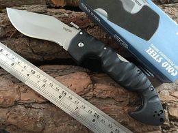 ACERO FRÍO Spartan Dogleg Cuchillo Plegable Aus-8 Blade Grivory Handle Táctico Camping Caza Supervivencia Cuchillos de bolsillo Xmas EDC Tools Collection