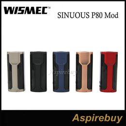 Wholesale Wismec SINUOUS P80 Box Mod W Compact Single Battery Hidden Fire Button with inch Screen for Elabo Mini Original