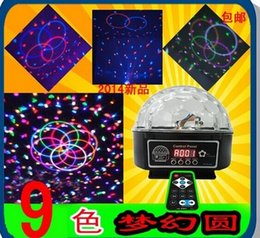 Magic Crystal Balls Canada - 9 LED Remote Control DMX 512 Crystal Magic Ball Effect Light Digital Disco Dj Stage Lighting Free shipping