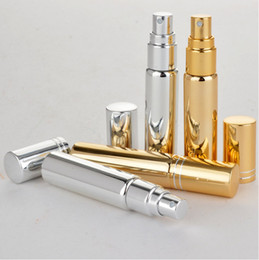 Factory priced perFumes online shopping - Factory Price ml metal Aluminum Empty Glass Perfume Refillable Bottle Spray Perfume Atomizers Bottles free ship