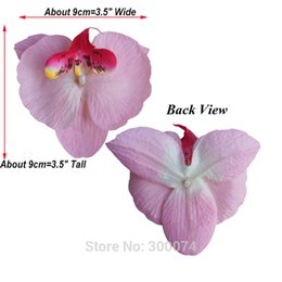 Wedding Hair Decoration Flowers NZ - 50pcs  Pack 9cm Artificial Silk Orchid Flowers For Wedding Party Decoration Real Touch Phalaenopsis For DIY Hair Accessory HTHD
