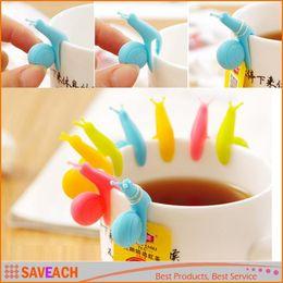$enCountryForm.capitalKeyWord Canada - Random Color!! Cute Snail Shape Silicone Tea Bag Holder Cup Mug Candy Colors Gift Set Free Shipping