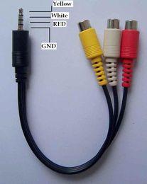 $enCountryForm.capitalKeyWord NZ - 0.24m 0.8ft 3.5 mm plug to 3 RCA Female Audio Video Cable 3 .5mm Plug to 3 RCA Female Audio Video AV Cable Fedex DHL fast shipment