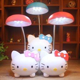 Olá kitty lâmpada dos desenhos animados adorável Kitty lâmpada Night Light Bedroom Decoração White Study Room LED Nightlight com carregamento lighitng venda por atacado