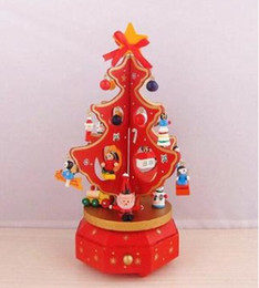 $enCountryForm.capitalKeyWord Canada - 2017 Creative Christmas Rotary music Christmas tree Christmas gifts Wooden Christmas tree music box