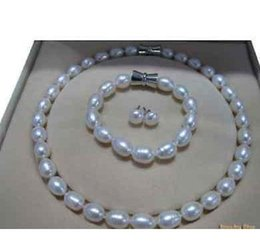 $enCountryForm.capitalKeyWord Canada - Charming 12-13mm NATURAL south sea white pearl necklace 18 inch 925 silver clasp free bracelet earring