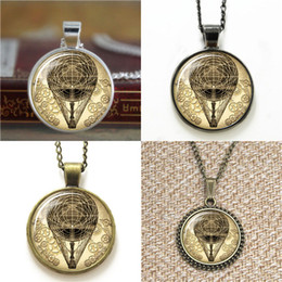 Vintage steampunk glasses online shopping - 10pcs hot air balloon Steampunk Vintage Style Art Pendant Necklace keyring bookmark cufflink earring bracelet