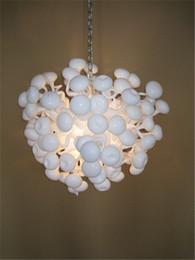 $enCountryForm.capitalKeyWord NZ - Free Shipping White Art Murano Glass Chandelier Wedding Decor Style Hand Blown Glass Small White Chandelier Light-LR055