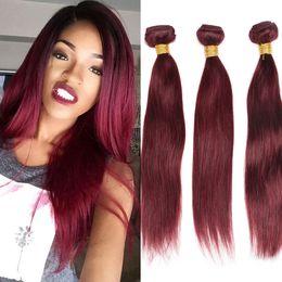 $enCountryForm.capitalKeyWord Canada - Elibess Brand--Grade 8A Top Quality Remy Weft 100% Human Hair Double Drawn Color 99J Hair Weave, 60g per bundle&5bundles per lot, free dhl