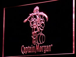 Chinese  a138 Captain Morgan Spiced Rum Bar Neon Light Sign Free Shipping Dropshipping Wholesale 7 colors to choose manufacturers