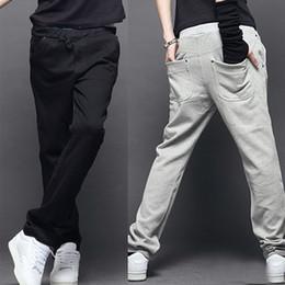 Wholesale full button sweater resale online - Autumn Winter Mens Sport Jogger Pants Rivet Trousers Long Joggers Men Elastic Waist Straight Pants Sweater Pants