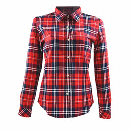 Discount Womens Red Plaid Shirts | 2017 Womens Red Plaid Shirts on ...