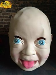 $enCountryForm.capitalKeyWord NZ - Party Mask Horror Crying Baby Scary Silicone Face Mask Party Eco-Friendly Rubber Latex Full Masks For Halloween Party Toy Prop