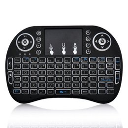 Wireless bluetooth keyboard smart tv online shopping - Rii I8 Smart Fly Air Mouse Remote Backlight GHz Wireless Bluetooth Keyboard Remote Control Touchpad For S905X S912 TV Android Box X96 T95