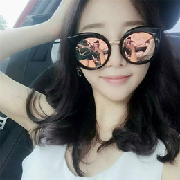 f68f93b4041 New Korean Fashion Brand Designer Womens Sunglasses Retro Cat Eye  Sunglasses Ladies Mirror Sunglasses Round Glasses Gafas de sol FDY171017