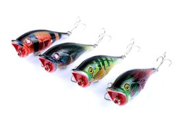 China New Colorful Painted Laser Popper bait 7.5cm 7.8g Swimming Depth 0.2-0.6m floating Fishing Freshwater Poper Artificial lure suppliers