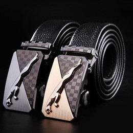 $enCountryForm.capitalKeyWord NZ - Fashion Men's Bussiness Waist Belts Automatic buckle Genuine Leather belts For Men 110-130cm Best quality designer brand name free shipping