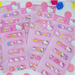 Barato Venda Médica Por Atacado-Venda por atacado - Hello Kitty Adhesive Bandage Children Band-aidWoundplast Medical Emergency Kit