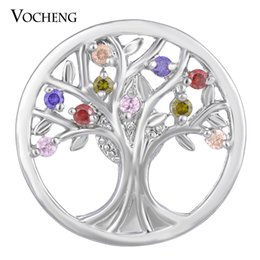 Jewelry stone material online shopping - NOOSA CZ Stone Ginger Snap Jewelry Colors mm Copper Material Tree Button VOCHENG Vn