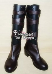 Discount cos shoes - Wholesale-Saint Seiya Aiolos cos Cosplay Shoes Boots shoe boot #JZ282 anime Halloween Christmas