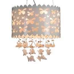 $enCountryForm.capitalKeyWord UK - Butterfly Pierced Princess Room Pendant Lamp Creative Girl's Room Pendant Light Children's Bedroom Pendant Light Fixture